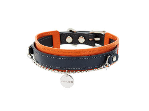 [COLLAR] DUET - ORANGE & BLACK